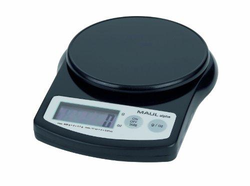 Maul 1640590 Präzisionswaage MAULalpha mit Batterie, 500 g, schwarz