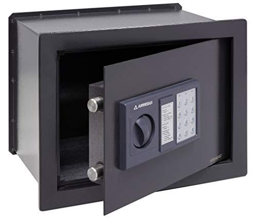 Arregui W25EB Caja fuerte de empotrar electrónica con pomo. 380x280x250mm, Gris oscuro, 380 x 280 x 250 mm