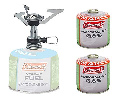 Coleman - Foyer à gaz + 2 cartouches de gaz C300
