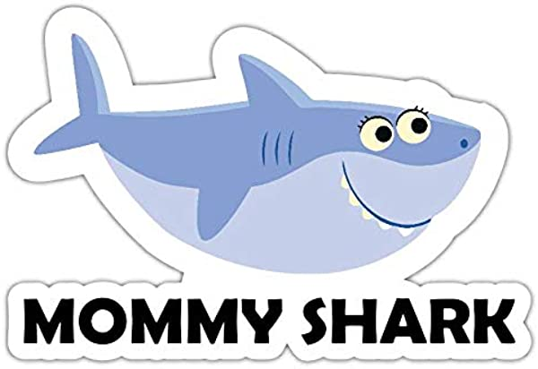 Mommy Shark Printed Vinyl Sticker Decal Funny Kids Baby Song Cartoon Baby
