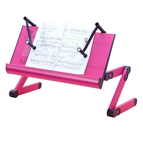 SHILONG La Tabla Plegable del Ordenador La Cama del Escritorio De La Tableta Soporte Lazy Portátil Multifunción Soporte De Aleación De Aluminio (Color : Standard)