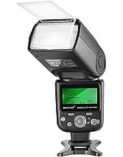 Neewer NW760 TTL Flash Speedlite Remoto con Pantalla LCD para Nikon D7200 D7100 D7000 D5500 D5300 D5200 D5100 D5000 D3300 D3200 D3100 D700 D600 D500 D90 D80 D70 D60 D50 y Otra Más