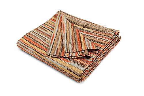 HomeLife - Tela decorativa para sofá, diseño étnico, multicolor, 260 x 280 cm, fabricada en Italia – Tela multiusos de algodón – Granfoulard colcha de verano para cama de matrimonio