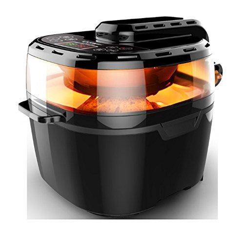 Rookvrije energie-lucht-friteuse-olie geven een gezonder alternatief voor diep vet vrij huis smart frittenmachine multifunctionele elektrische compacte koekenpan - gezonde kook- en voedseloven kijkvenster 10 l