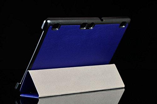 Lobwerk Tasche für Lenovo Tab 3 10 Business A10-70F TB3-X70 (F/L) Plus 10.1 Zoll Schutz Hülle Flip Tablet Cover Hülle (Blau) NEU