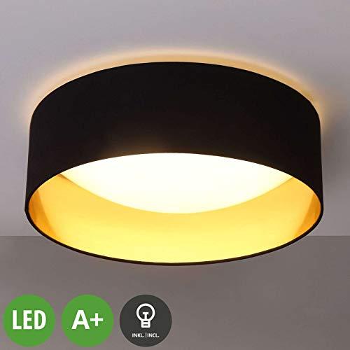 Preisvergleich Produktbild LINDBY LED Deckenlampe 'Coleen' (Modern) in Schwarz aus Textil u.a. für Wohnzimmer & Esszimmer (1 flammig,  A+,  inkl. Leuchtmittel) - Deckenleuchte,  Lampe,  Wohnzimmerlampe