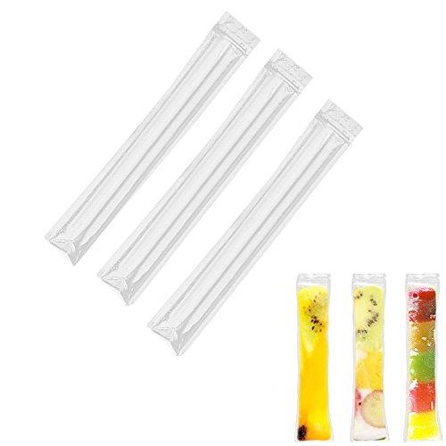ICYANG 40 Stücke DIY Eislutscher Formen Ice Pop Beutel Einweg EIS Popsicle Staubbeutel Zip Druckverschluss Ice Cream Joghurt Smoothies