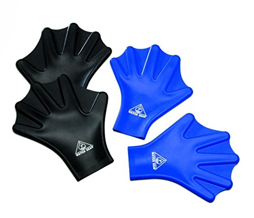 Water Gear Silicone Force Gloves - Large/Black