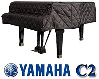 Yamaha C2 Grand Piano Cover Black Quilted Cover 5'8