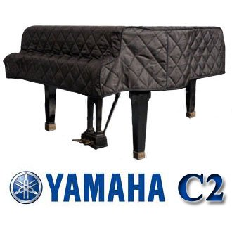 Yamaha C2 Grand Piano Cover Black Quilted Cover 5'8' C2, G2, G2F, DC3