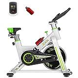 Cyclette da Interni, Bici A velocità Variabile Ultra Silenziosa, Carico Massimo 250 kg, Adatta per Esercizi Aerobici Familiari,White Green