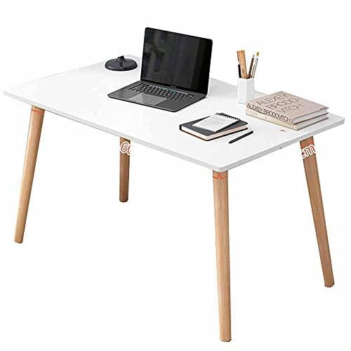 LJFYXZ Escritorio de Estudio 70 / 80cm, Mesa de Ordenador de Oficina en casa Mesa de estación de Trabajo para PC con Marco de Madera Maciza Fácil Montaje(Size:80x40cm,Color:Blanco)