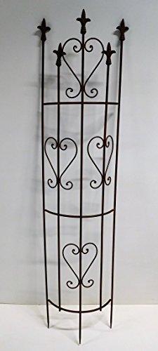 Ziegler Rankgitter Rankhilfe halbrund Dachrinne Spalier Metall H 135 cm braun 130367RV