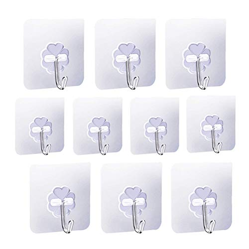 kaoku Adhesive Strong Nail Free Reusable transparente Heavy Duty Bathroom Kitchen Door Hook...
