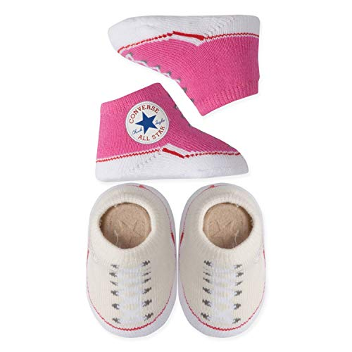 Converse Infant Booties Socks (Pink Cream (W2T), 0-6 Months)