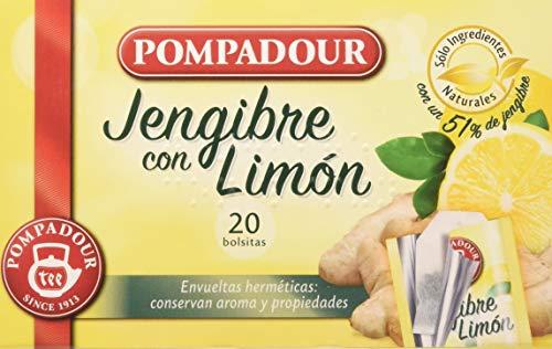 Pompadour Té Infusion Jengibre con Limón