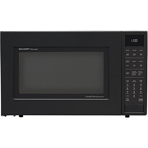 Sharp Convection Microwave Oven SMC1585BB - Combination - 11.22 gal Capacity - Convection, Microwave, Roasting, Baking, Browning - 10 Power Levels - 900 W Microwave Power - 15.40' Turntable - 120 V AC