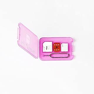 Accreate R-SIM 12 4G for iPhoneX/8/8p/7/7p/6s/6sp/6p Nano Unlock Card iOS 11.x 10.x (Pink)