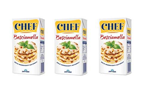 3x Parmalat Chef Besciamella Klassisches Bechamel Sauce zum Kochen 500ml natürliche Zutaten bereit zum Kochen