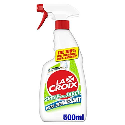 LA CROIX - Nettoyant Ménager en Spray avec Javel - La Croix Désinfectant et Ultra Dégraissant Pour la Cuisine - 500ml