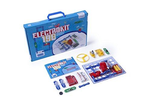 Miniland-Electrokit 198 Experimentos Kit de construcción de circuitos electrónicos para niños (99116)