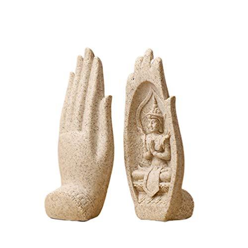BESPORTBLE Estatua de Resina de Buda Sentado en La Mano Escultura Tailandia...