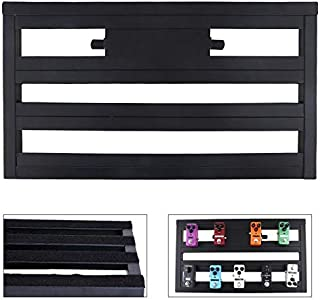 V2AMZ - 56 x 32cm Aluminum Alloy Guitar Pedal Board Setup Bigger Style DIY Guitar Effect Pedalboard with Installation Accessories