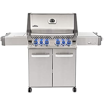 Napoleon P500RSIBNSS-3, Stainless Steel Prestige 500 Natural Gas Grill with Infrared Side and Rear Burners, sq