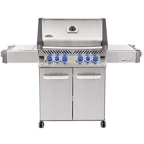 Napoleon P500RSIBPSS-3, Stainless Steel Prestige 500 Propane Gas Grill with Infrared Side and Rear Burners, sq - Assembly Free Grill Grills Propane UDS