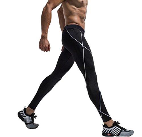 EUFANCE herr kompression bas lager tights byxor kyla torr löpning sport gym leggings träning