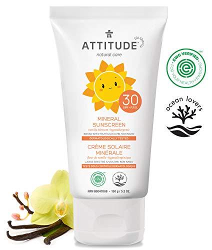 ATTITUDE mineralische Sonnencreme für Babys & Kinder Vanille LSF 30 (1 x 150 g)