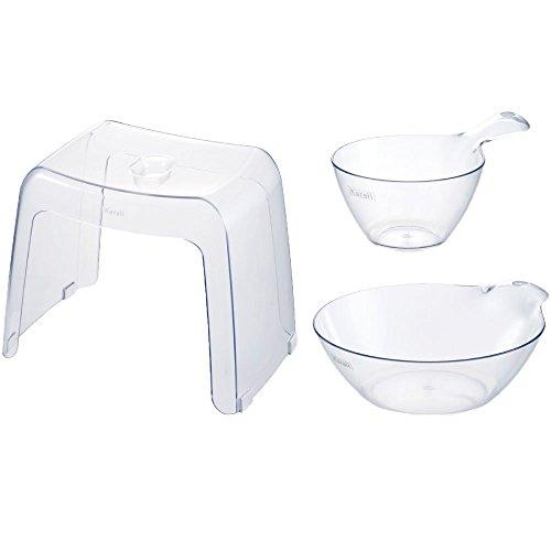 カラリ 『 3点セット(腰かけ30H+湯桶+手桶) 』【IT】ナチュラル(#9806107)