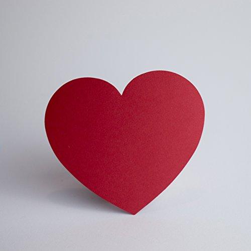 Papierherzen Rot 100 Stück