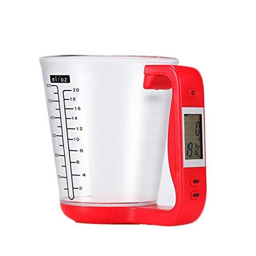 Wean Jarra medidora electrónica de cocina con balanza de cocina y pantalla digital para cocina casera