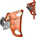 Slosy Bloqueador Escalada 4KN Polea Ascendente Rojo Deportes al Aire Libre Abrazadera Descendente de Mano Equipo de Seguridad Rappel Accesorios para Escalar en Roca Trabajos en Altura Alpinismo