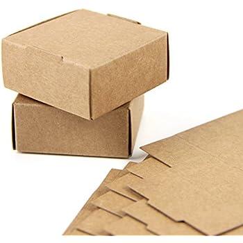 SUNBEAUTY Cajas Kraft marrón de la regalos, Cajas de Papel Kraft Marrón Cartón, Caja de Cartón Pequeño, 5.5 * 5.5 * 2.5cm (50 piezas): Amazon.es: Oficina y papelería