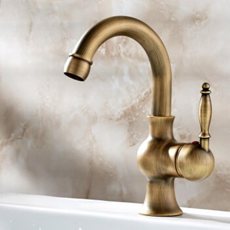 LHbox Bad Armatur in Bad für Waschbecken Waschtisch Wasserhahn Waschtischarmatur Europische Hahn und Kaltes Wasser Waschbecken Kann Gedreht Werden, Eine vollstndige Kupfer