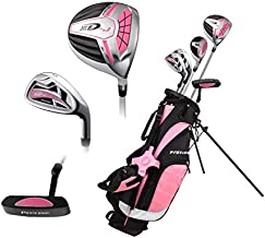 Top Performance Premium Junior Golf Club Set for Age 9-12, Right Hand & Left Hand, Boys and Girls (Pink, LH)