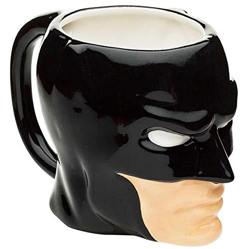 LUCYLANKER 3D Batman Copa, Taza de Cerámica Cerveza Café Tazas de té Pub Bar Drinkware Decoración del Hogar Regalo, Regalo Original y Gracioso, Taza Diseño 30 Cumpleaños, (301-400ml, Negro)