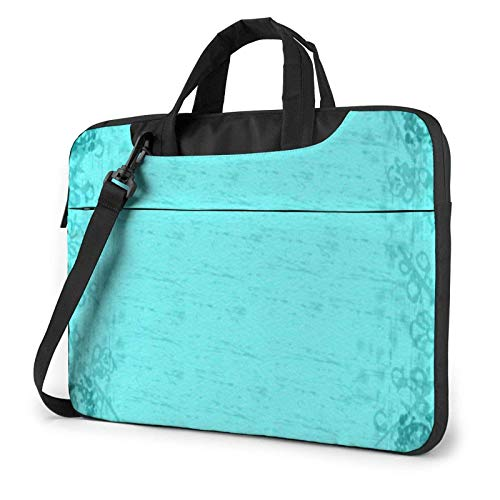 Teal Blue Unisex Laptop Bag Messenger Shoulder Bag for Computer Briefcase Carrying Sleeve