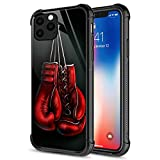 iPhone 12 Pro Max Case, Boxing Glove iPhone 12 Pro Max Cases for Men Boys Organic Glass [Anti-Scratch] Fashion Cute Pattern Design Cover Case for iPhone 12 Pro Max 6.7-inch Red Gloves