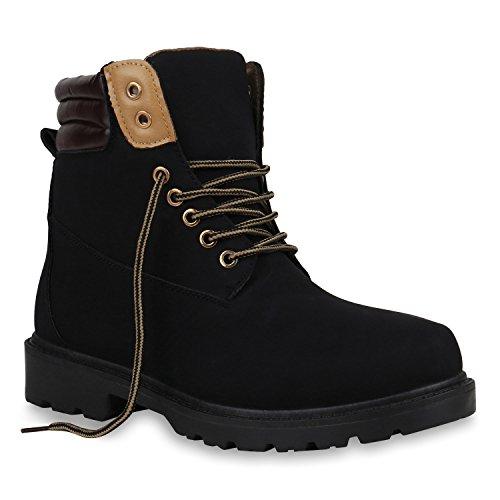 Herren Schuhe Worker Boots Outdoor Shoes Grip Sole Booties Block Heel 149881 Schwarz Brooklyn 42 Flandell