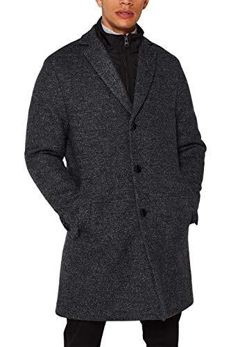 ESPRIT Herren 109EE2G006 Mantel, Grau (Dark Grey 020), X-Large (Herstellergröße: 52)