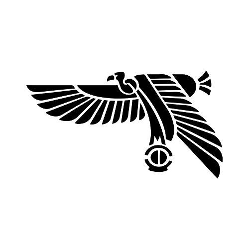 Aufkleber mit agyptischer Vogel Silhouette fur Notebook Auto Laptop 14 cm 55 Zoll Schwarz