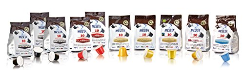 Meseta Kit 100 cialde capsule assortite compatibili Nespresso