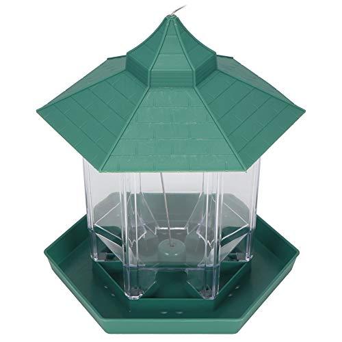 Bird Feeder, Plastic, Transparent, Garden Bird Feeder, Large Storage Space, for Birds Balconies