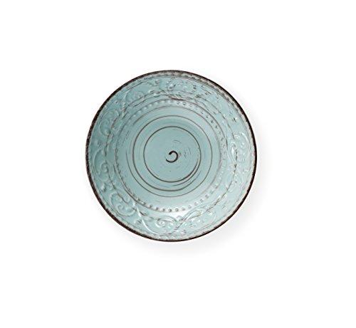 Brandani 55975 piatto fondo turchese Serendipity stoneware diametro cm 20