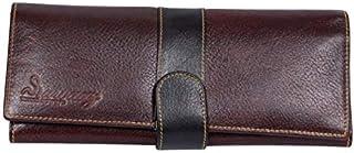 Women Fashion Brown Soft Genuine Leather Handbag Wallet Clutch Purse Card Holder