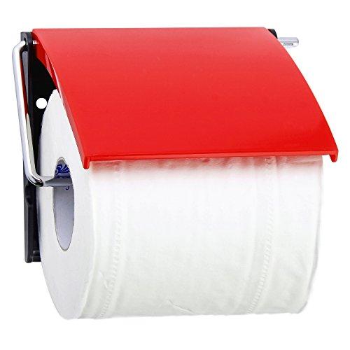 MSV Toilettenpapierhalter aus Polystyrol in rot, 30 x 20 x 15 cm
