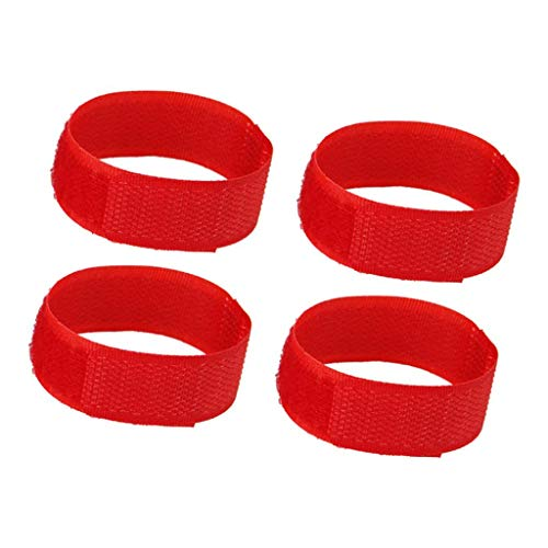 Amuzocity Paquete de 5 Collar de Gallo Sin Cuervo, Collar de Pollo Sin Gancho Banda para - Rojo